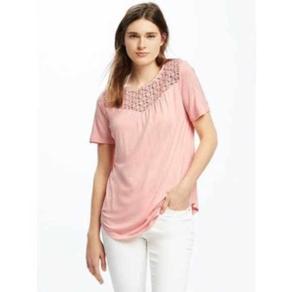 bd2b7c3136c71 Old Navy short sleeve shirt with lace top size XXL.  M 5a92270945b30cae09a20cb4